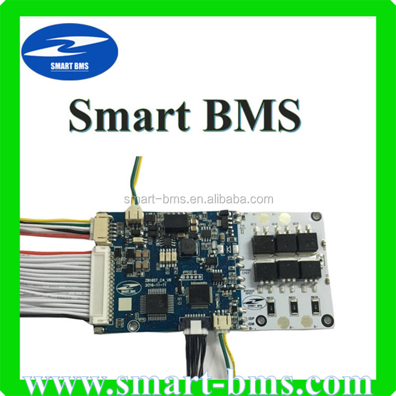 UART communication Smart BMS Battery Management System 7S 20A Balancing Smart bms for Li ion LifePo4 battery cell