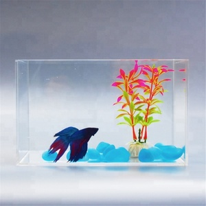 1.5 Gallon Clear Acrylic Fish Tank Betta Aquarium Home Decoration