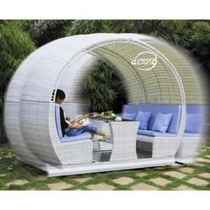 Derong supplier outdoor furniture garden use rocking swing chair set