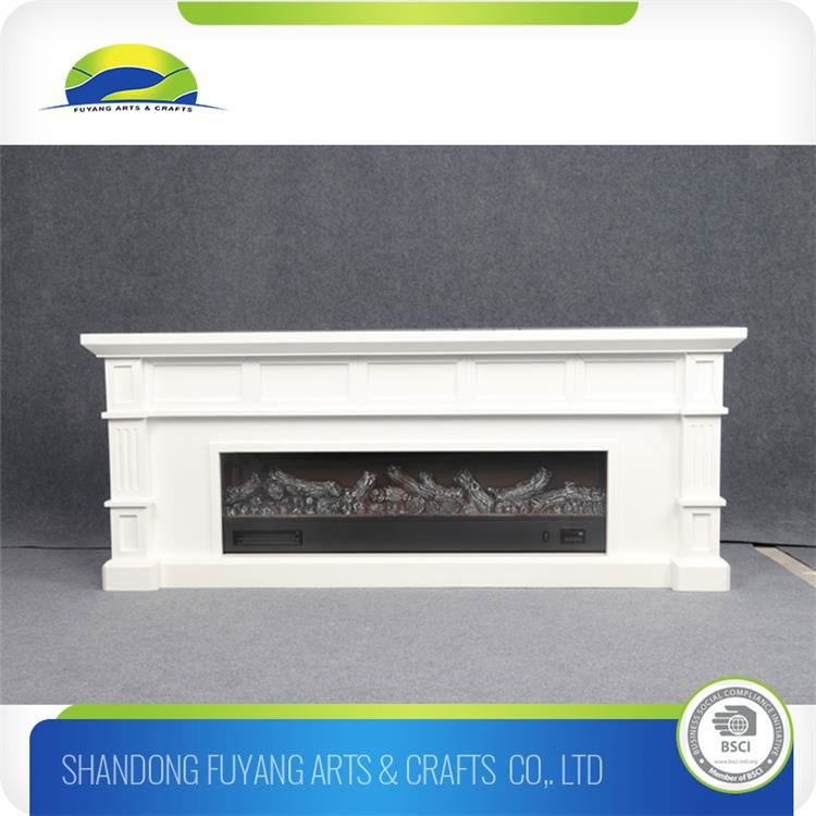 Modern Electrical Fireplace Wood Mantel