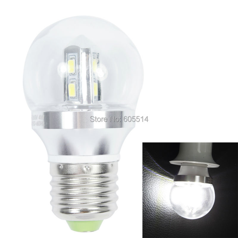 [Seven Neon]Free DHL shipping 100pcs two years guarrantee white E27 8leds 2835 SMD 4W 85-265V led bulb light,led bulb lamp