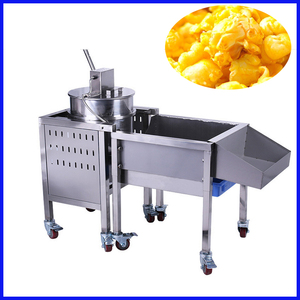 Automatic commercial gas popcorn vending machine price vending with stainless steel