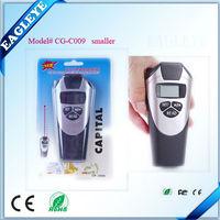 Handheld Ultrasonic sensor laser distance meter in gray color