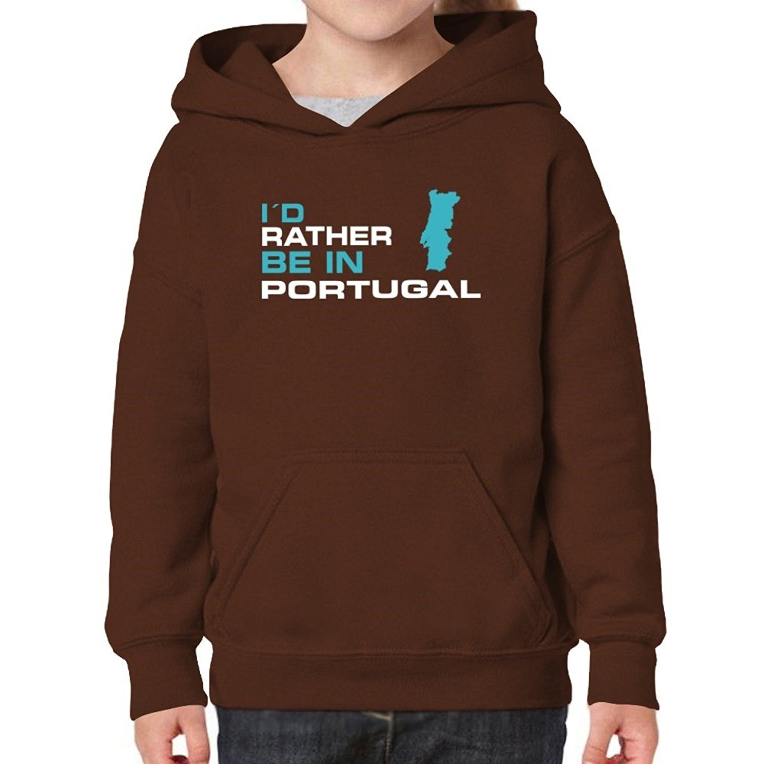 b7732898e Get Quotations · Teeburon Rather Be In Portugal Girl Hoodie