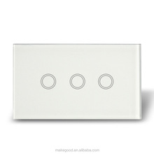 Australian standard 3 gang 2 way LED light touch home switch