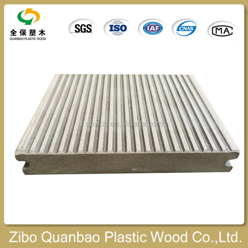 WPC solid ecological easy to maintain hard wearing composite decking