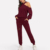 new style sportswear women asymmetrical shoulder track suits custom