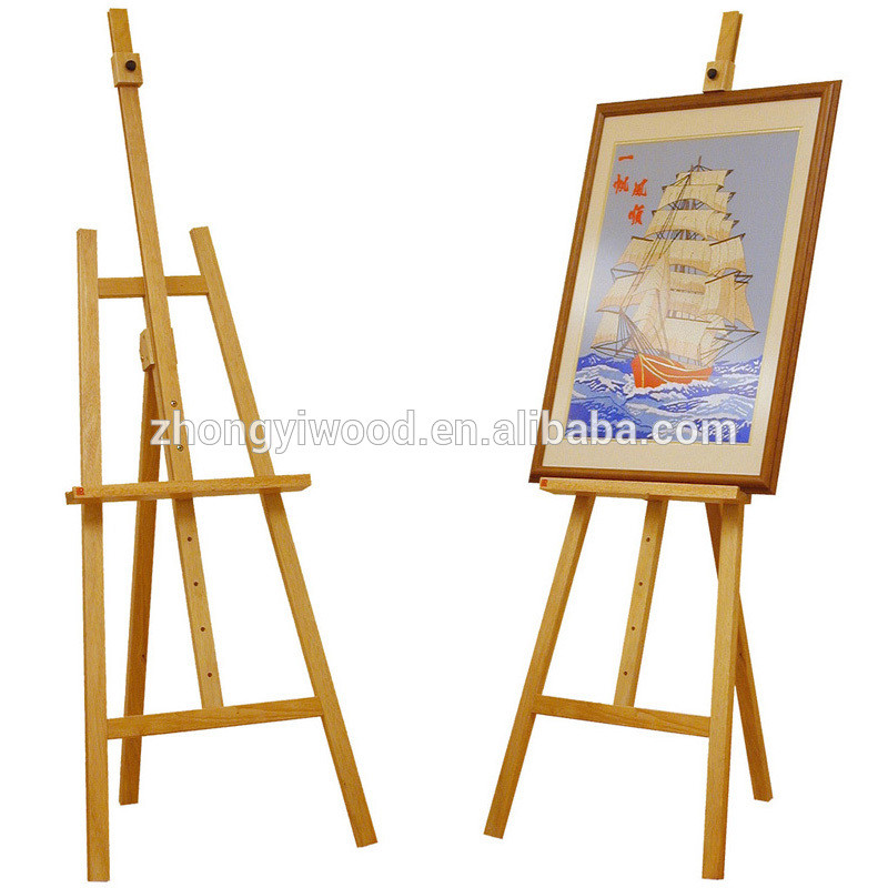 Trade assurance folding wooden painting easel stand with blackboard wholesale
