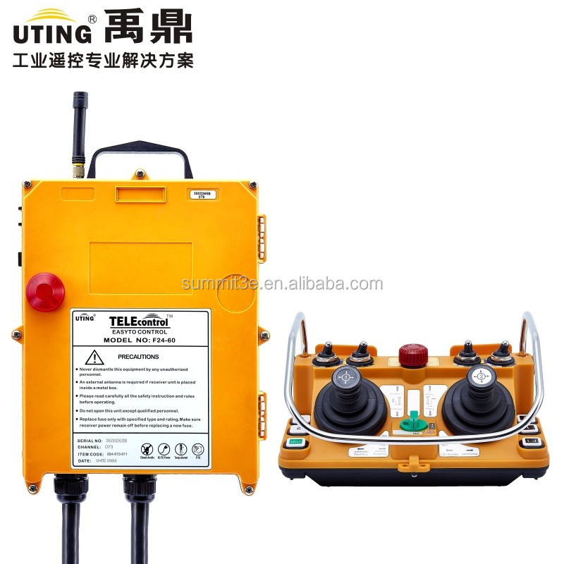 Remote control for crane /long distance industrial remote controls/ hoist radio joystick remote control F24-60