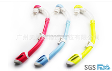 Colorful high quality diving snorkel nude diving snorkel set for kids children swimming snorkel
