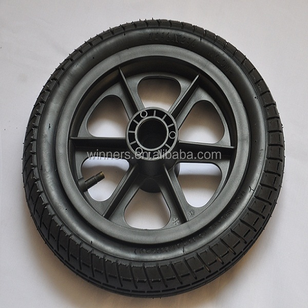 "12""x 2.125"" small stroller rubber wheel"
