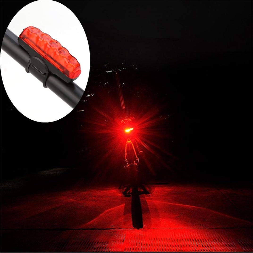 Glumes Front/Rear Bike Light USB Rechargeable|Ultra Bright Powerful Safety Taillight|High Intensity Rear LED Accessories|3 Light Mode Options|100LM|Waterproof|for all Bikes/Helmets (Red)