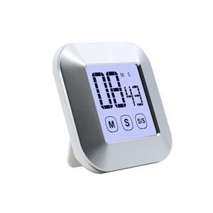 Smart Touch Screen LCD Display Magnetic Digital Kitchen Countdown Egg Timer Small Digital Oven Alarm Timer