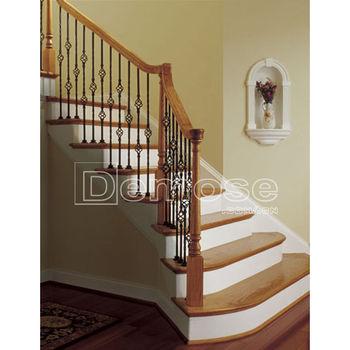 simple d 39 escalier main courante bois avec fer forg buy main courante bois avec fer main. Black Bedroom Furniture Sets. Home Design Ideas