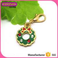 Colorful Enamel christmas charm cheap wholesale fashion jewelry,jewelry charms