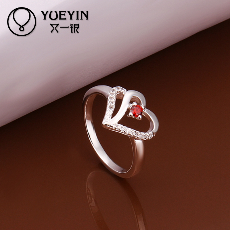 Alibaba Fashion Ruby Stone White Gold Ring Designs For Girls - Buy ...