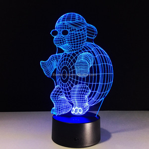 Cool Sea Turtle 3D Led Lamp 7 Colors Changing Night Light