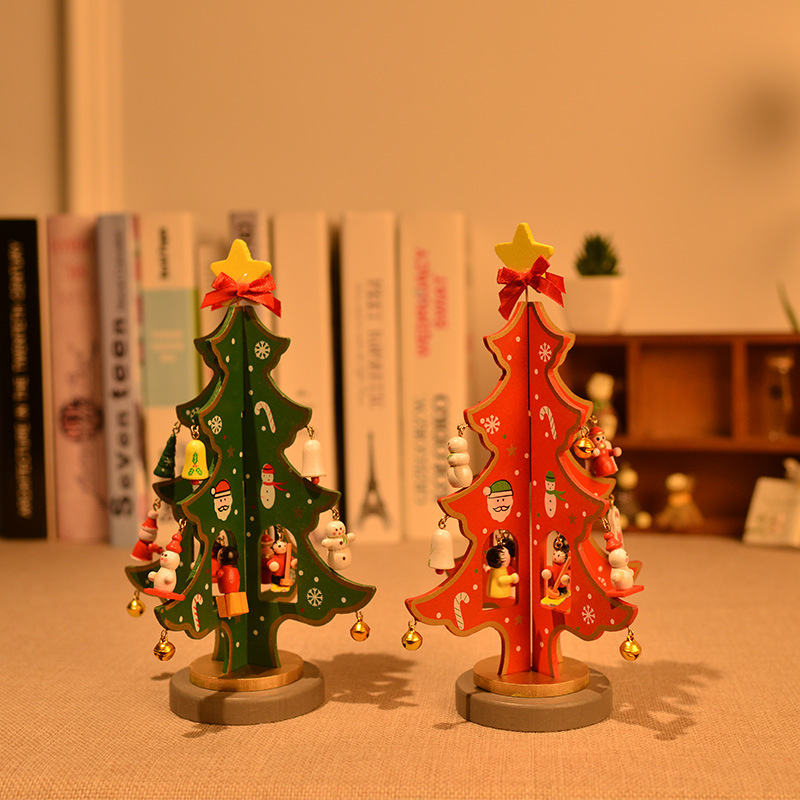 S/M/L Size Available Wooden Christmas Tree, Great dinner table Decoration with factory prices