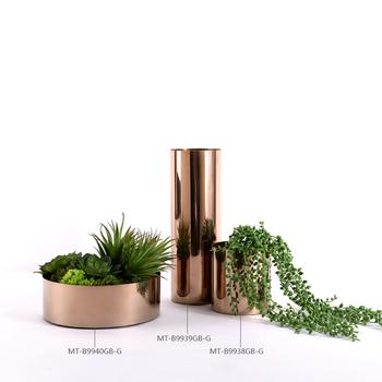 Home Decoration Modern Gold Metal Vases Stainless Steel Vase Buy