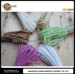 Assorted Colors 40m/bundle Twisted Raffia Paper Twine For Sticker