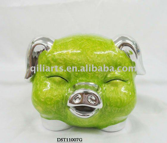 New design ceramic save money smiling pig box