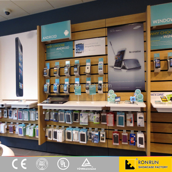 Laptop Mobile Phone Shop Interior Display Cabinet Showcase Design