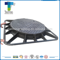 heavy duty cast iron decorative manhole cover frame and cast iron sewer cover