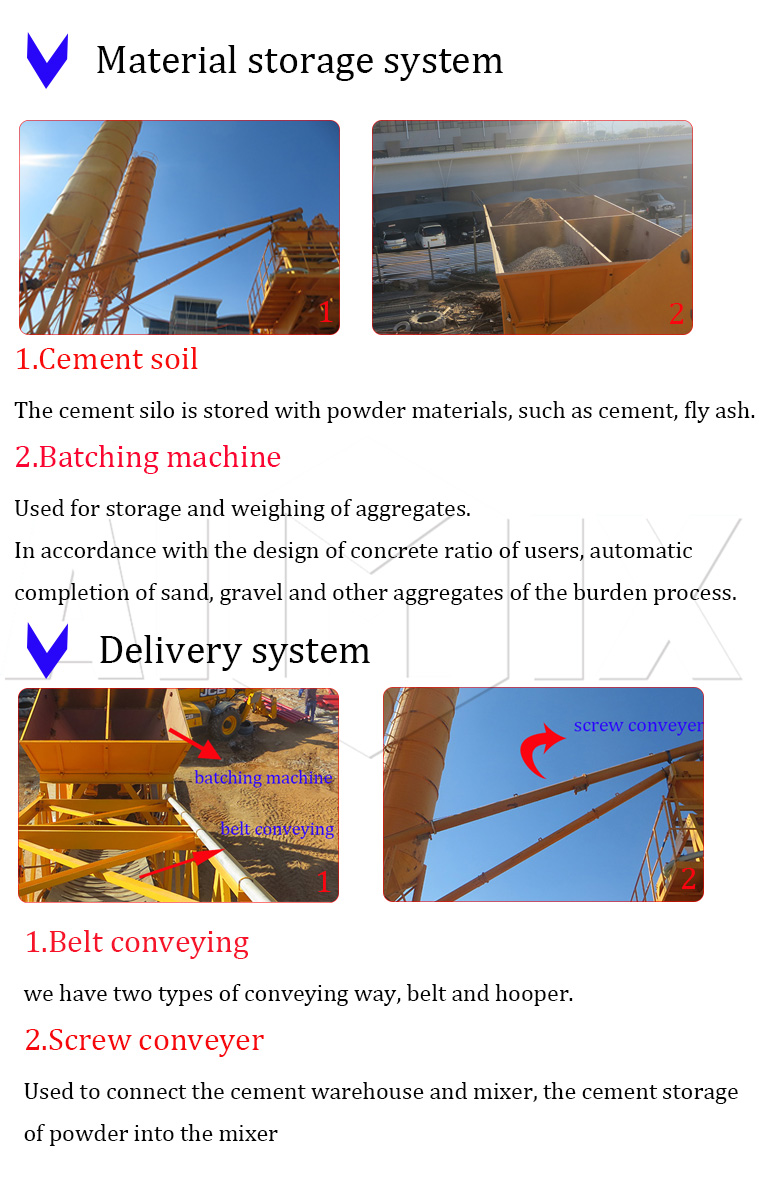 2High quality portable YHZS50 small mobile concrete batch plant for sale