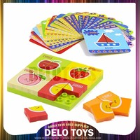 ABS materiel educational toys plastic building bricks blocks simple puzzle for kindergarten children present set DE090