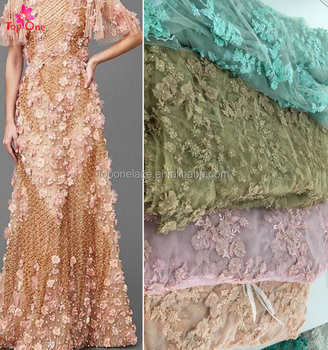 2017 Whole Beaded Embroidery Bridal Laces Fabrics For Dress Flower Lace Embroidered Fabric