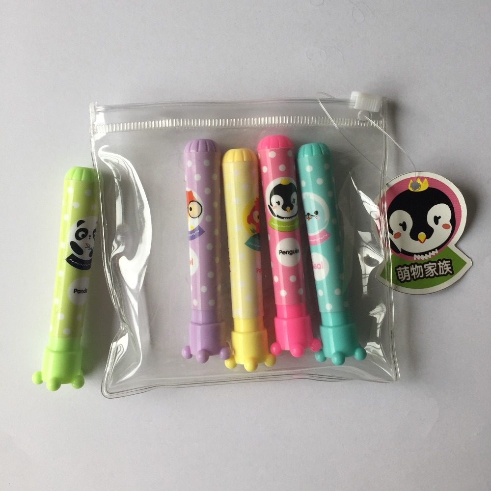 Multipurpose Pocket-Style Non-Toxic Fluorescent Ink 6 in 1 Highlighter Pen