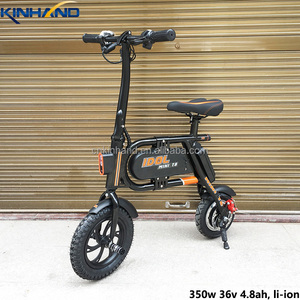Factory outlets 36v 350w 4.8ah foldable portable Electric Bike