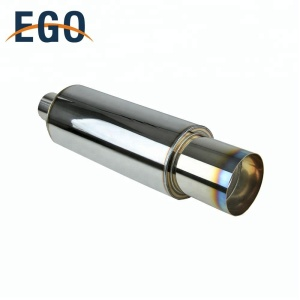 Low Price Stainless Silencer Burn Tip exhaust muffler Pipe Universal Car Truck Titanium Exhaust Muffler
