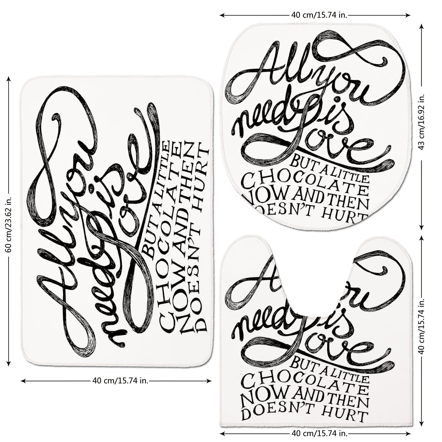 cheap fun quotes find fun quotes deals on line at alibaba Epson Ink Cartridges Product get quotations 3 piece bathroom mat set quotes decor all you need is love calligraphy ic