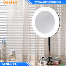 Beelee Acrylic Mirror Frame LED Lighting Table Top Magnifying Mirror for Hotel