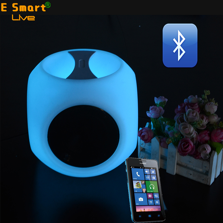 Rechargeable  portable plastic led lighted speakers