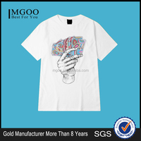 MGOO Wholesale Asia Singapore Tshirt Special Design Pure White Short Sleeves Summer Vacations
