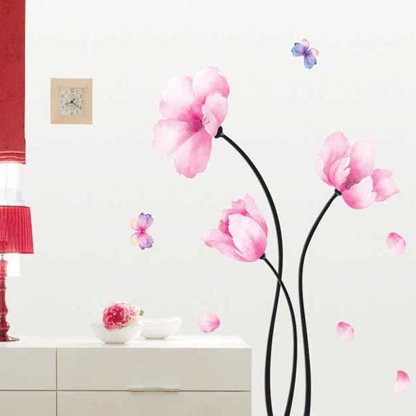 Creative Romantic Fresh Nature Orchid Flower Wall Sticker Decal Home Decor Warm Beautiful Home TV&Sofa Wall Stickers