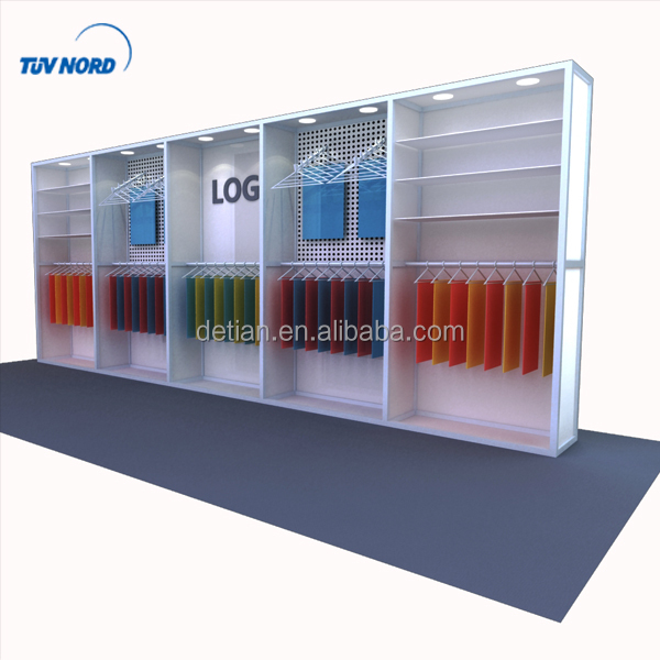 Detian Offer slat wall stand exhibition booth exhibition stand favoshow display