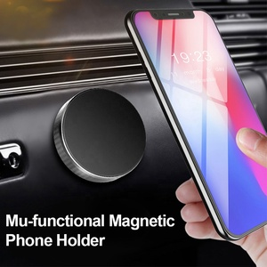 Magnetic car dashboard steering wheel flat holder for iphone Samsung GPS Mount Magnet wall stand Holder For Mobile Phone