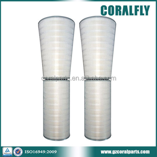 CORALFLY Cylindrical &Conical F9 HEPA gas turbine filter