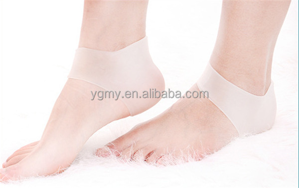 New 1 Pair Delicate Silicone Moisturizing Gel Heel Socks Like Cracked Foot Skin Care Protector