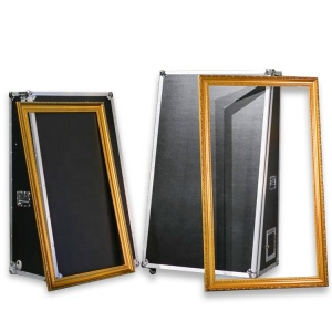 Entertainment 55 / 65 inch selfie portable magic mirror photo booth with flight case