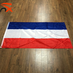 polyester screen printed outdoor red white blue stripes custom the Netherlands flag holland country flag