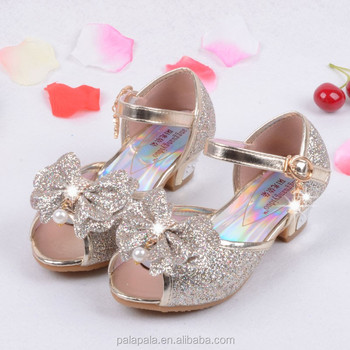 eb1de61924b2 Enfants 2017 New Children Princess Sandals Kids Girls Wedding Shoes High  Heels Dress Shoes Party Shoes