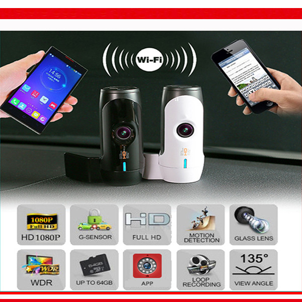 ROGA L1 WIFI Dash Cam Hidden DVR with NTK99655 SONY Sensor support Max 64GB TF Micro WIFI Cam