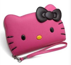 iPhone 6(4.7 inches) Small,Hello Kitty 3D Wallet Case for Apple iPhone 6 (4.7)-24K Gold Electromagnetic Waves Shield Sticker iPhone 6 (4.7)-Hot Pink
