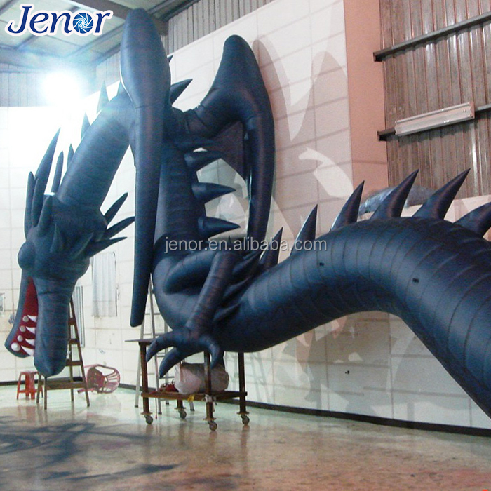 Giant Outdoor Advertising Inflatable Black Dragon Model