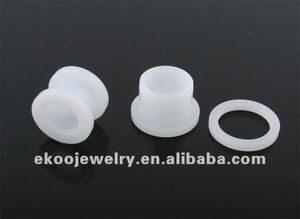 Body Jewelry White Acrylic Flesh Tunnel Ear Piercing