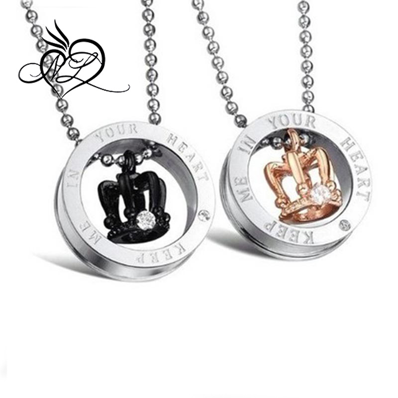 Stainless Steel Pendant Necklace Couple Matching Set We Love Each Other Love Valentine